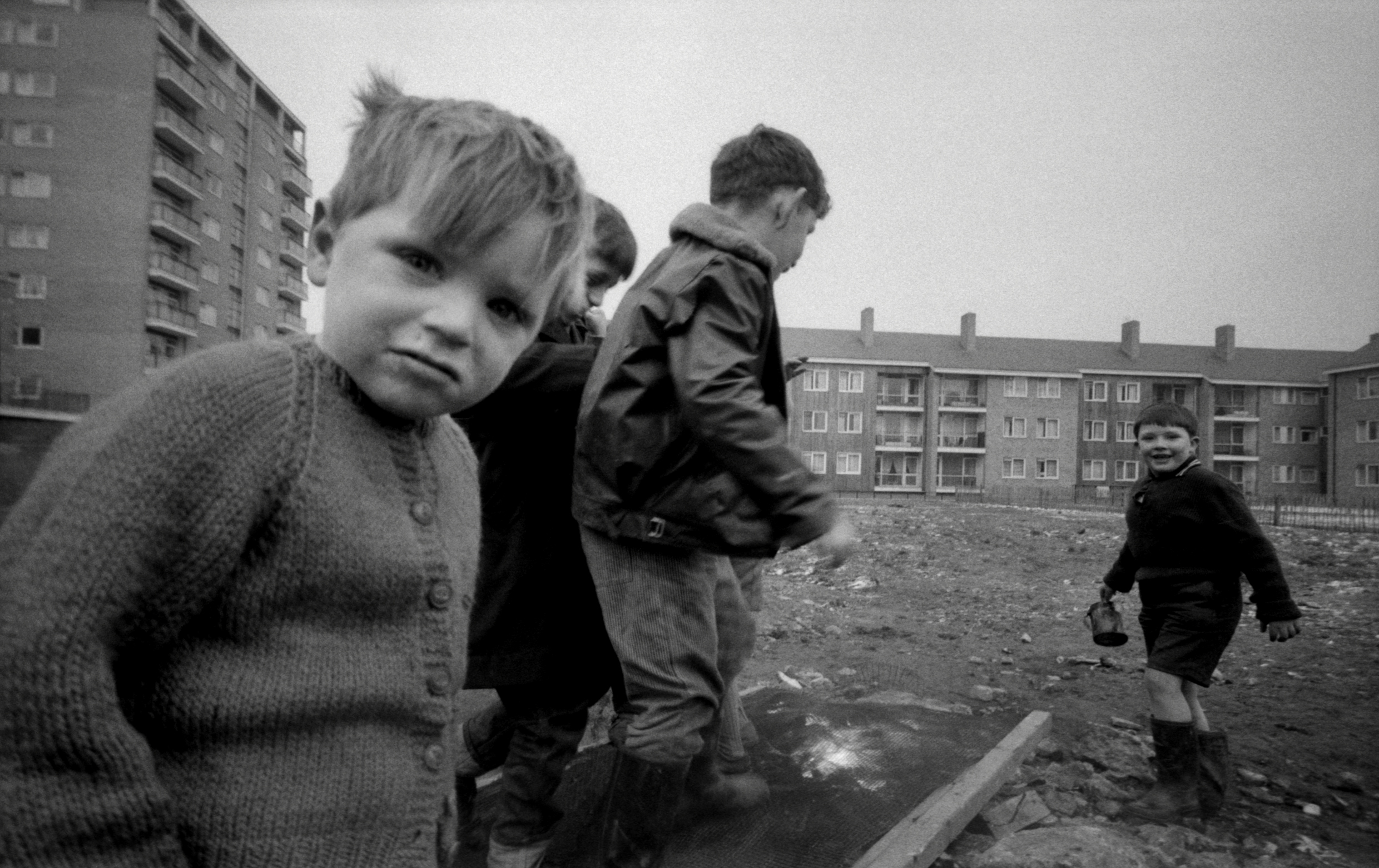 Boy in Cardie, Harrow Road, London, 1962
