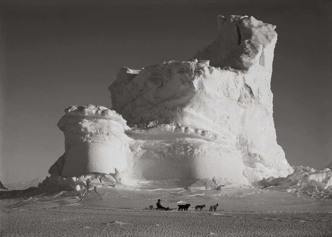 The Castle Berg with Dog Sledge, September 17 1911