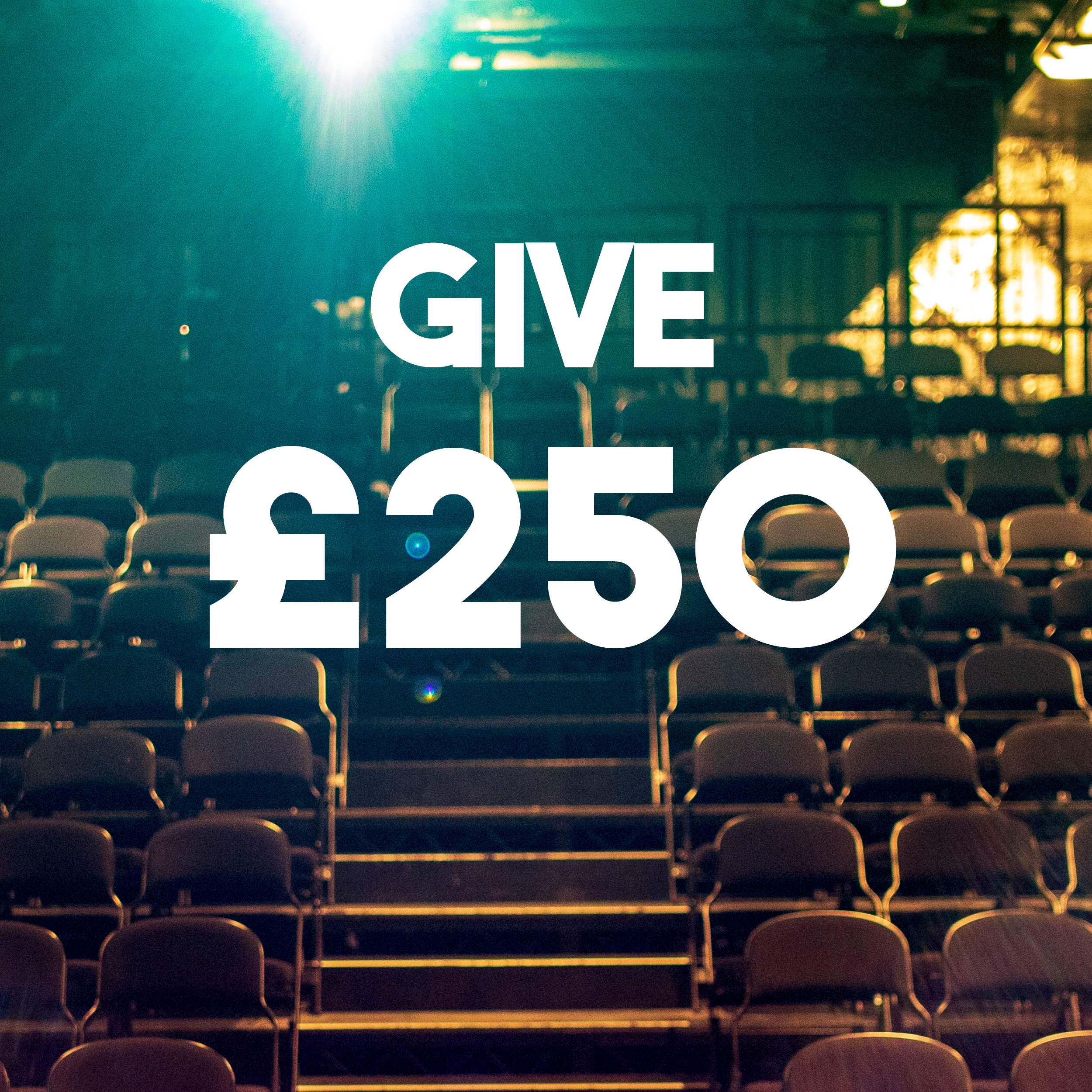 £250 pays a day's worth of in-kind rehearsal space for an emerging artist.