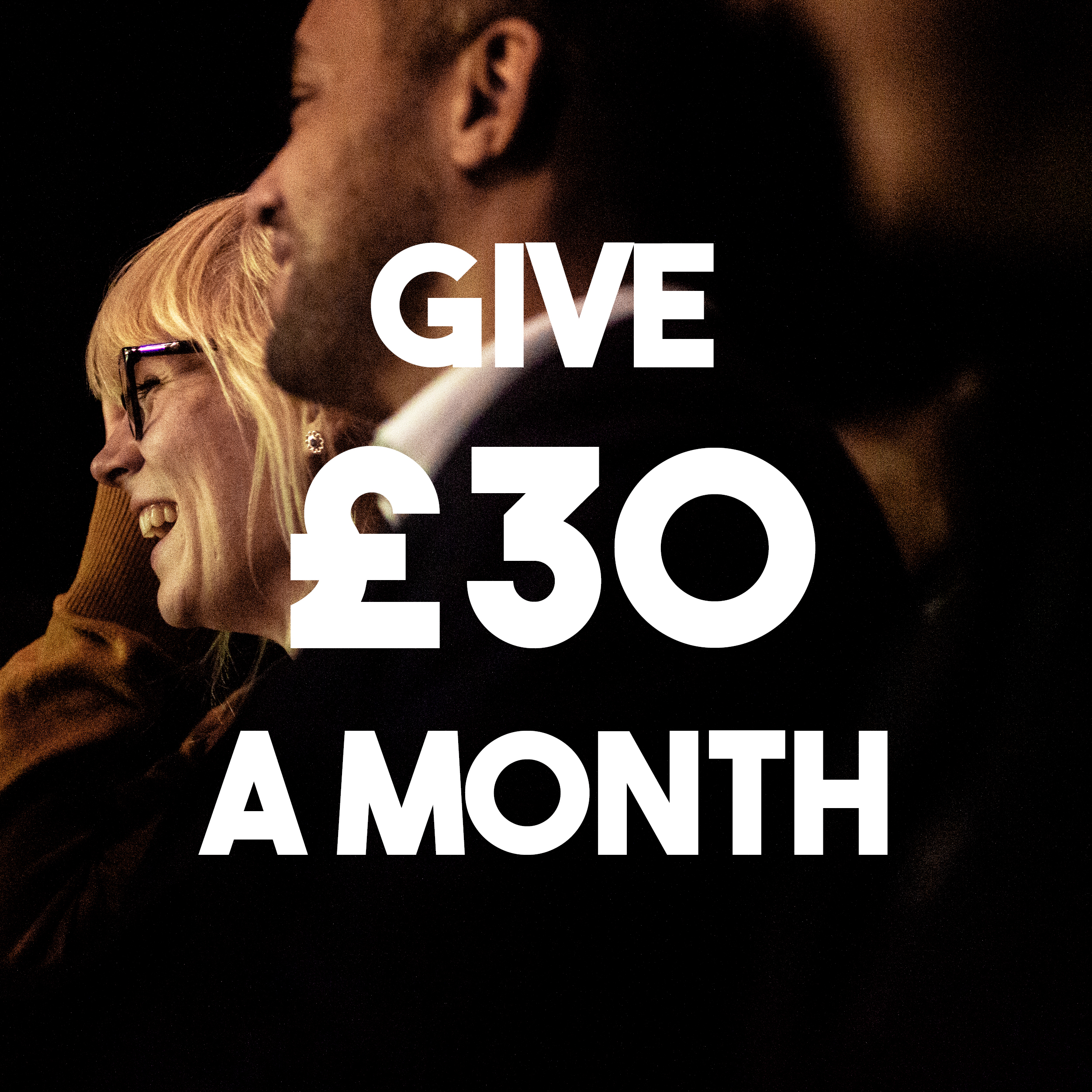 Support one of our shows with a regular donation of thirty pounds.
