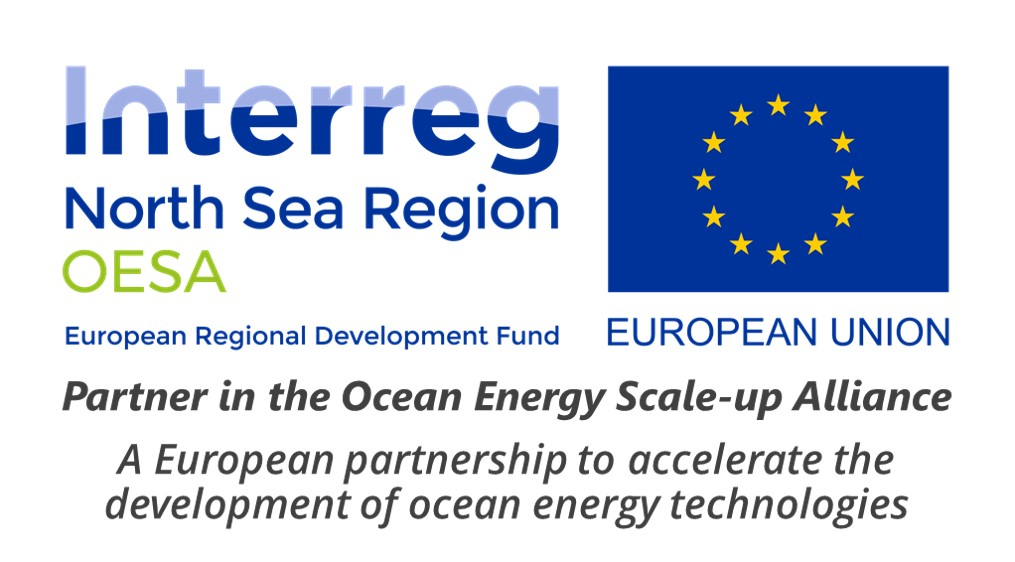 - OESA aims to accelerate the development of marine energy technologies through strategic partnerships and international collaborationThe Ocean Energy Scale-up Alliance (OESA) is an accelerator project aiming to develop and deploy large scale marine energy pilots. The transnational partnership under the lead of the Dutch Marine Energy Centre combines expertise from 6 European countries from the North Sea Region.The following three goals will accommodate a larger number of technology deployments in the future:1. To develop a transnational scale-up offer for marine energy technologies, in which the services of large European service providers in offshore and marine energy are combined.2. To accelerate the development of five technologies, leading to the deployment of 20 MW in large scale pilots.3. To bring together stakeholders from the offshore industry, investment business and policy makers in a stakeholder platform and show the collaborative potential of marine energy in order to secure their support for future deployments in the ocean energy sector.A strong partnership of international expertsWithin OESA, thirteen organisations combine their expertise in offshore engineering, market development, ocean energy testing and technology development. To make sure that the offer is tailored to the most urgent needs of the industry five technology developers are members of the alliance. Together with the eight service providers they are analysing and defining services that will lead to the deployment of their technology pilots.The eight service partners are combining their expertise to offer a portfolio that covers both technological as well as commercial services. This will not only lead to the immediate acceleration of pilot development but also ensure the sustainable growth of technology companies.Through its transnational collaboration OESA strives to strengthen the ocean energy sector. This will allow to share lessons learned and lead to the faster production of more renewable energy in the North Sea region.Visit www.northsearegion.eu/oesa for more information on the project and collaboration opportunities.