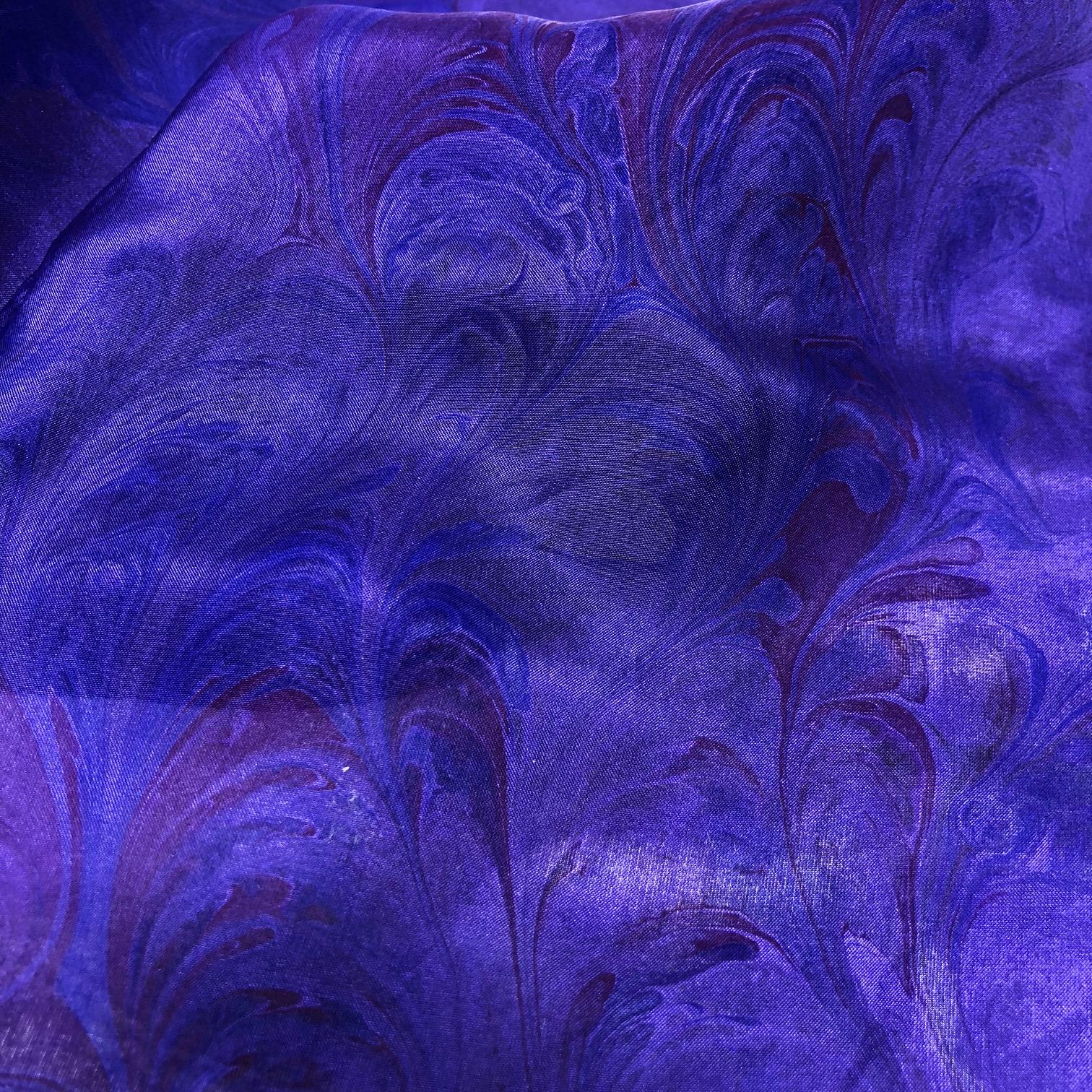 Zohara Silk Scarf - Violet - Crown
