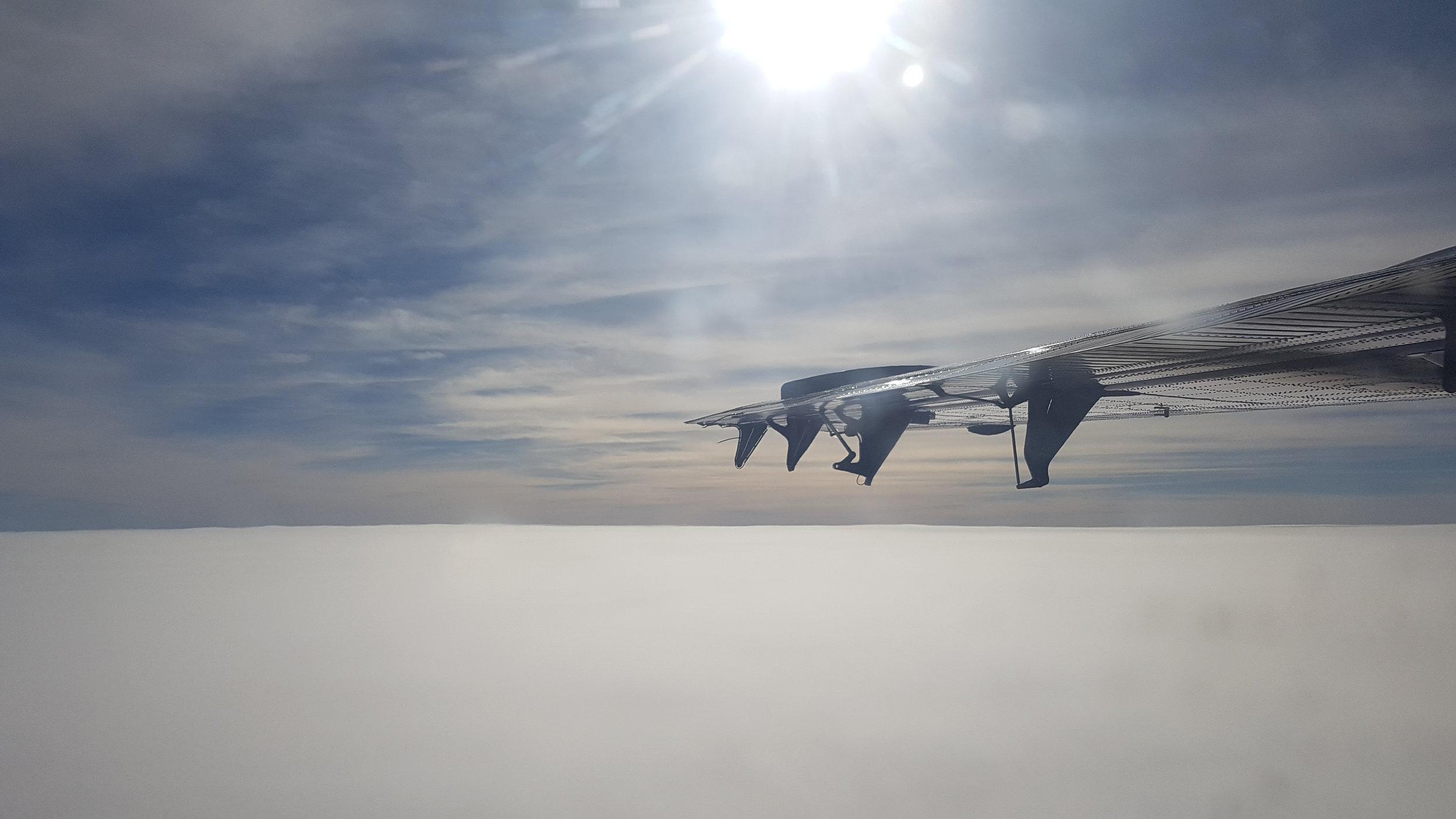 Thick cloud band, where's the beach runway?