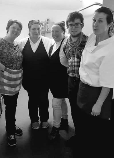 Joan, Audrey, Me, Jamie and the boss Peigi…..#Dreamteam