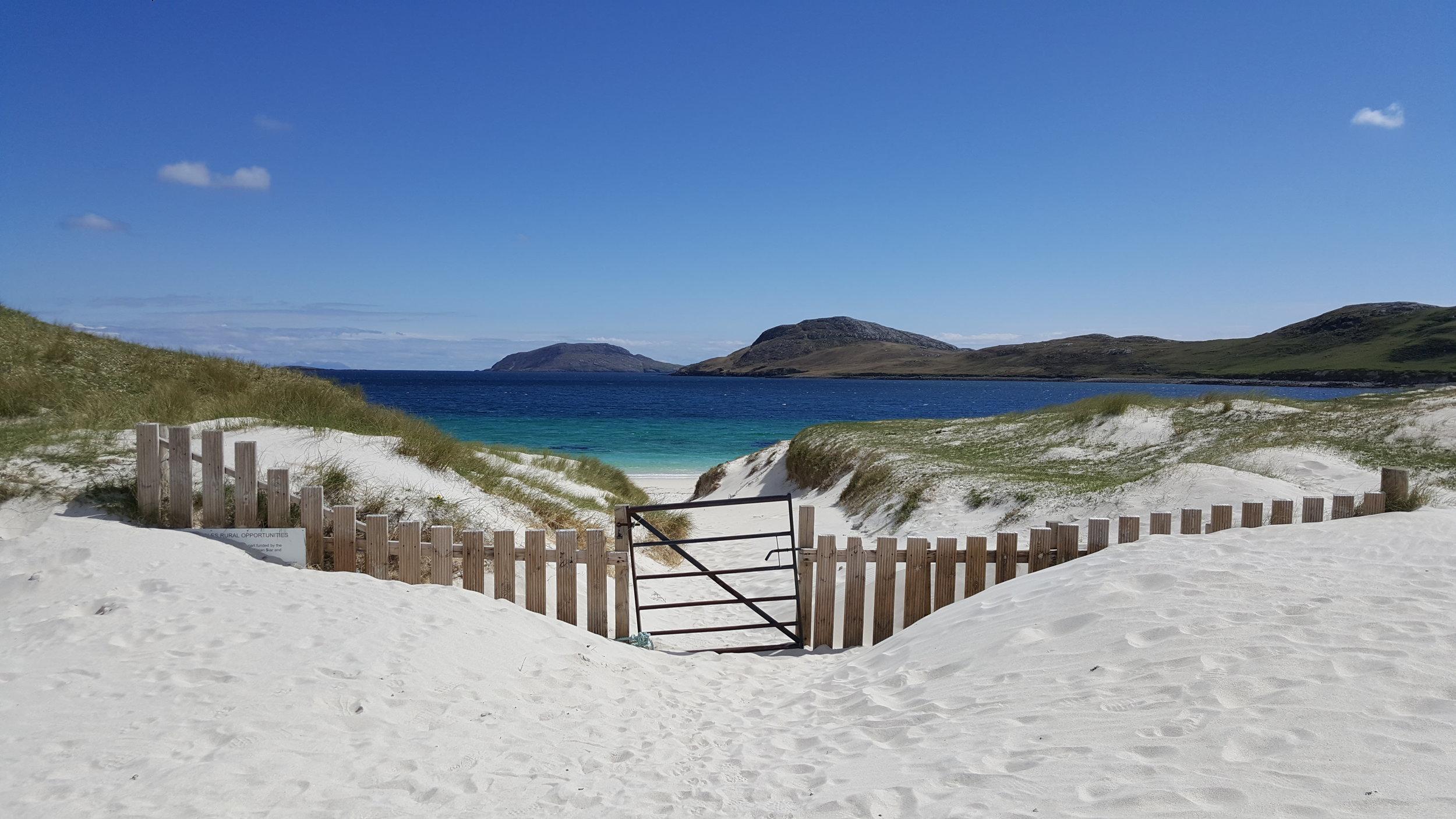 Gateway to Vatersay beach