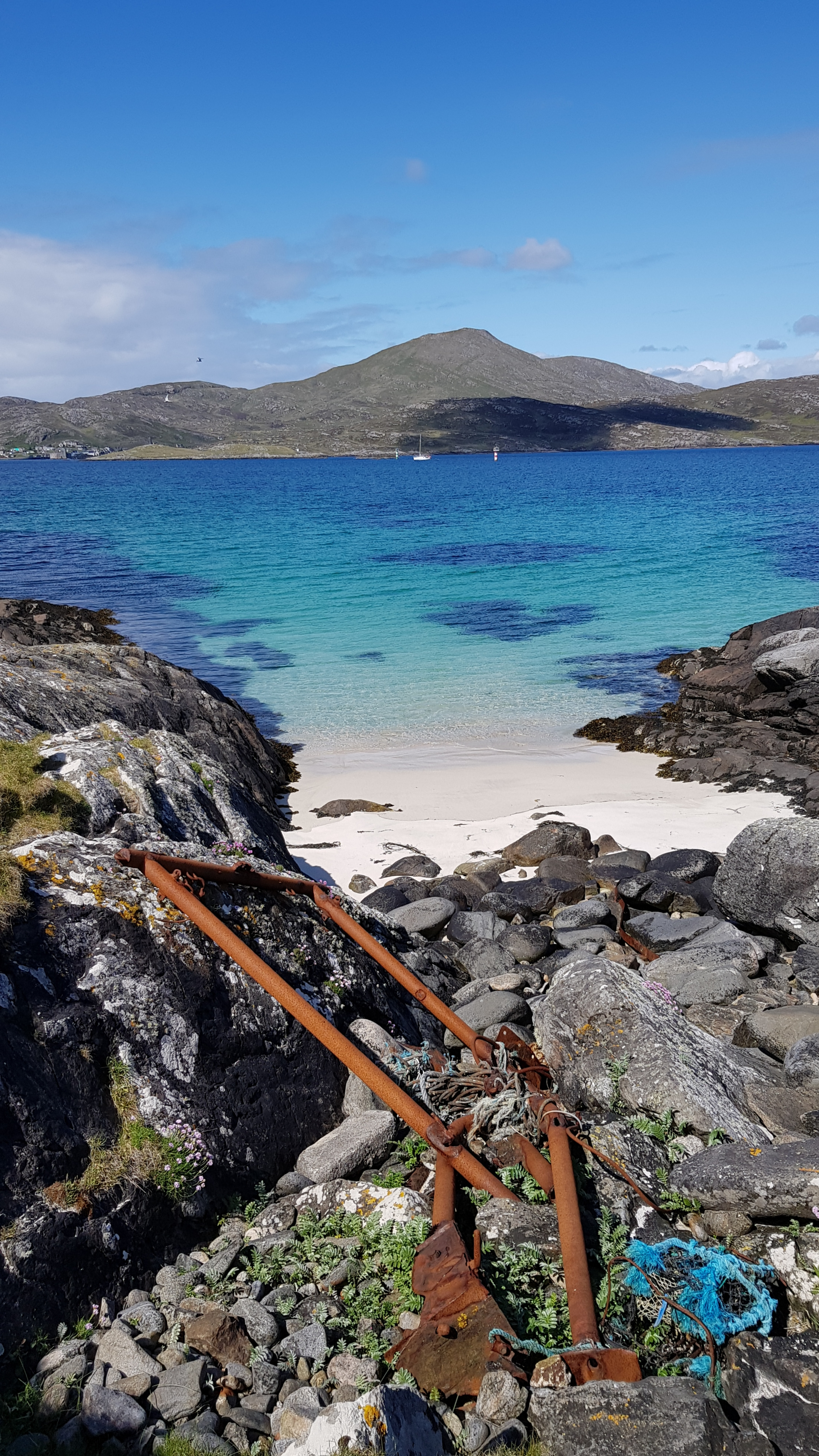 Blue rope matching the waters between Barra and Vatersay, breathtaking!