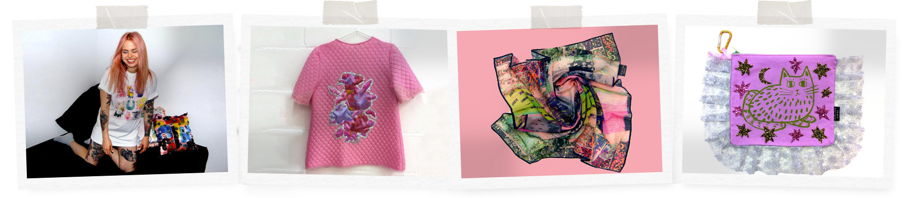 Being Irish T-shirt, €31.72, embroidered quilted jacket, €622.99, silk scarf, €135.92, handmade clutch, €96.28, at aislingduffy.co.uk.