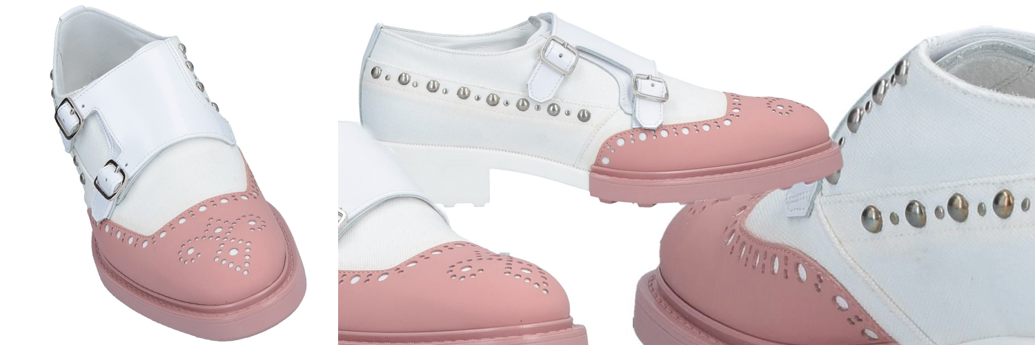 Loafers in pastel pink, €227.48 at    yoox.com