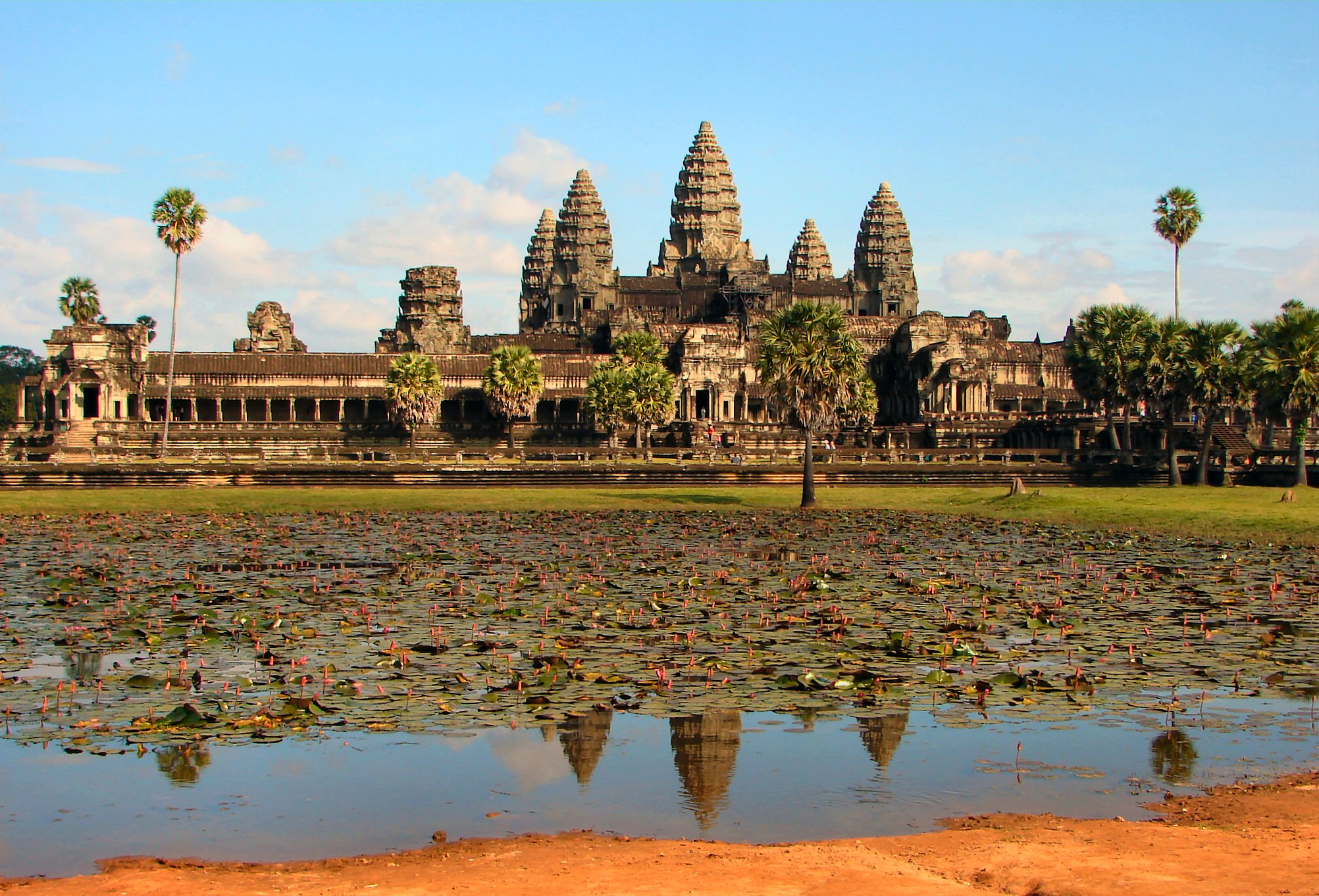 The impressive landscape of Ankor Wat