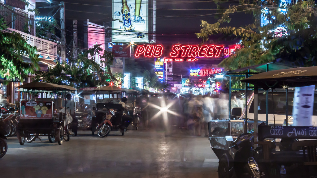 The infamous 'Pub Street' display in Siem Reap