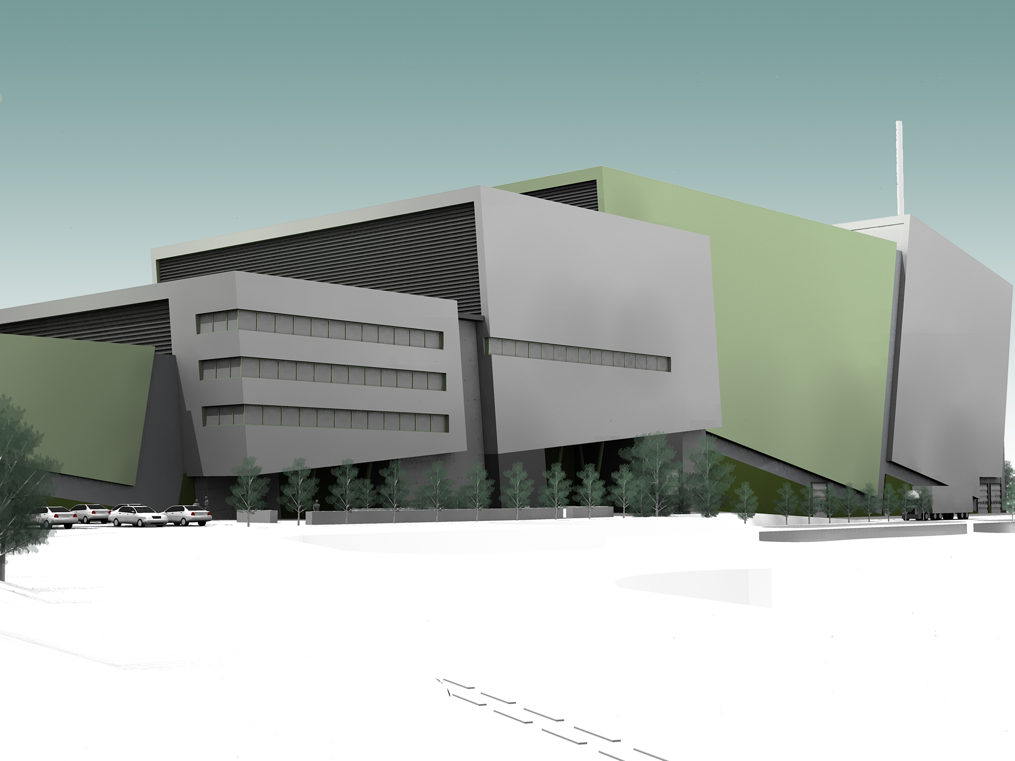 energy from waste facility 3D artist impression