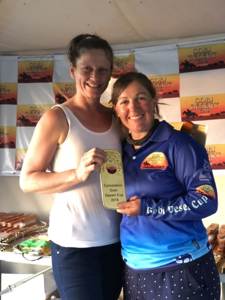 4th place finisher Tania Orlov with Ride Director, Camille Champagne.