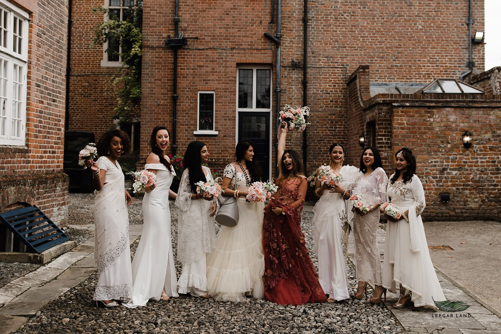 An indian-english fusion wedding at Knowlton Court.