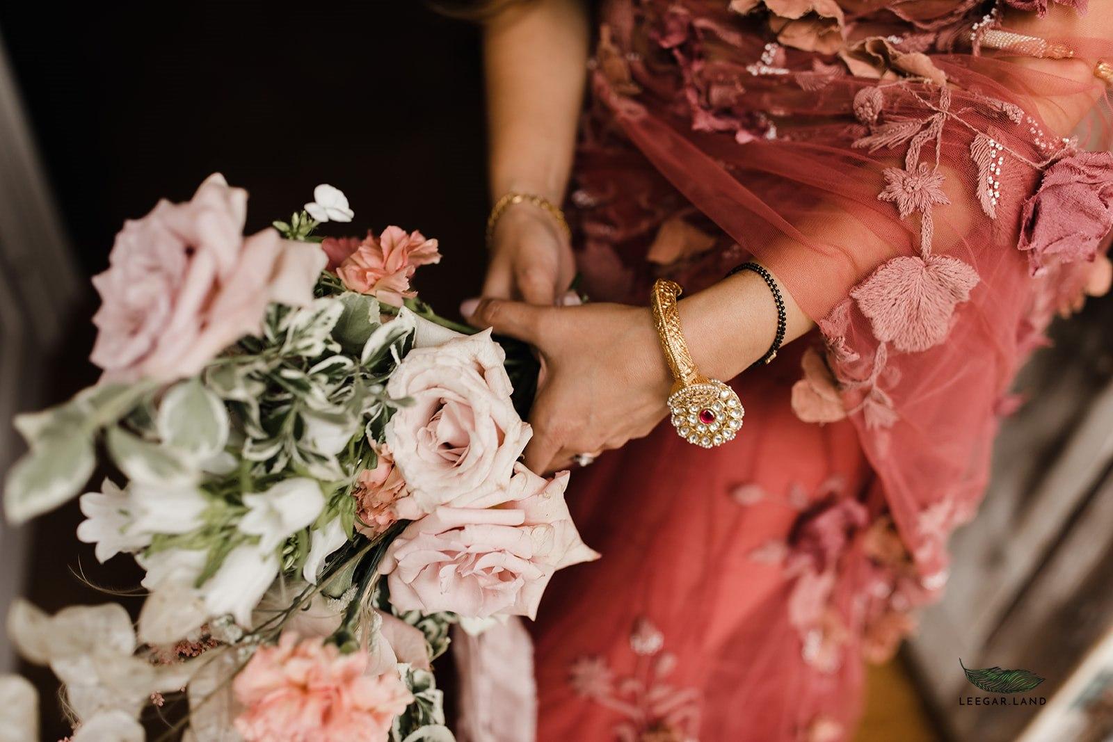Wedding flowers by boho wedding florist, Velvet Rose Flower Studio in Essex.