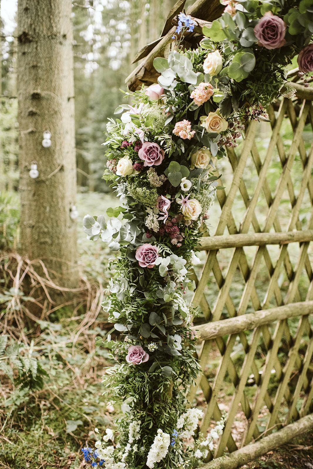 Wild flower arch by Velvet Rose Flower Studio