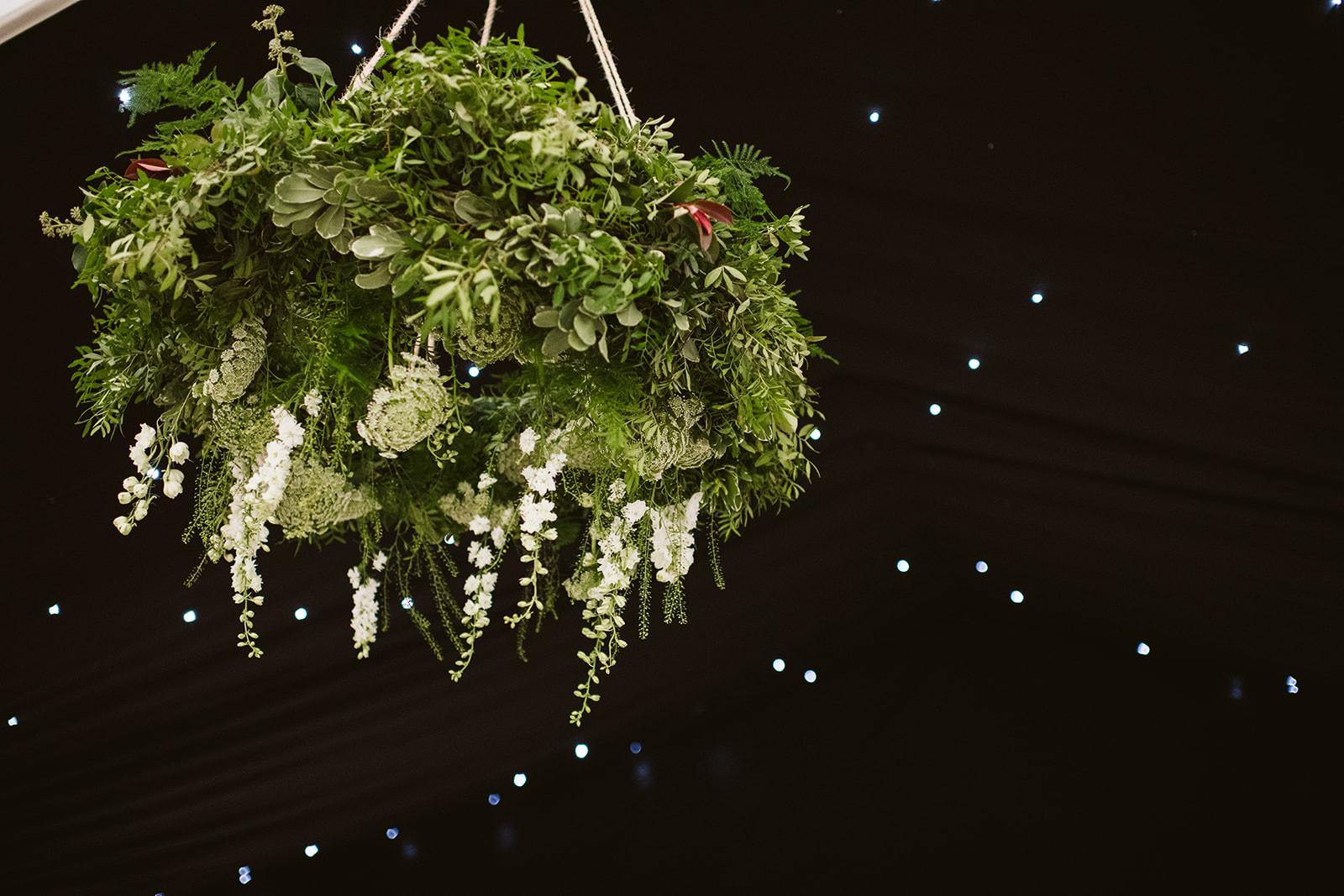 Wedding hoops by boho wedding florist in Kent