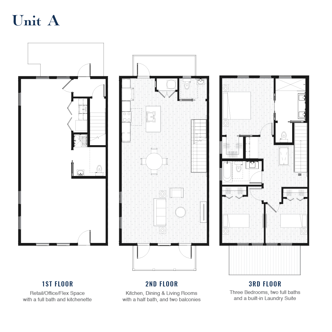 Unit A Floorplan | East Wilbur LiveWorks, Downtown Lake Mary