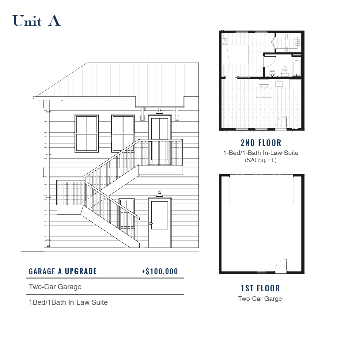 Unit A Premium Garage with ADU | East Wilbur LiveWorks, Downtown Lake Mary