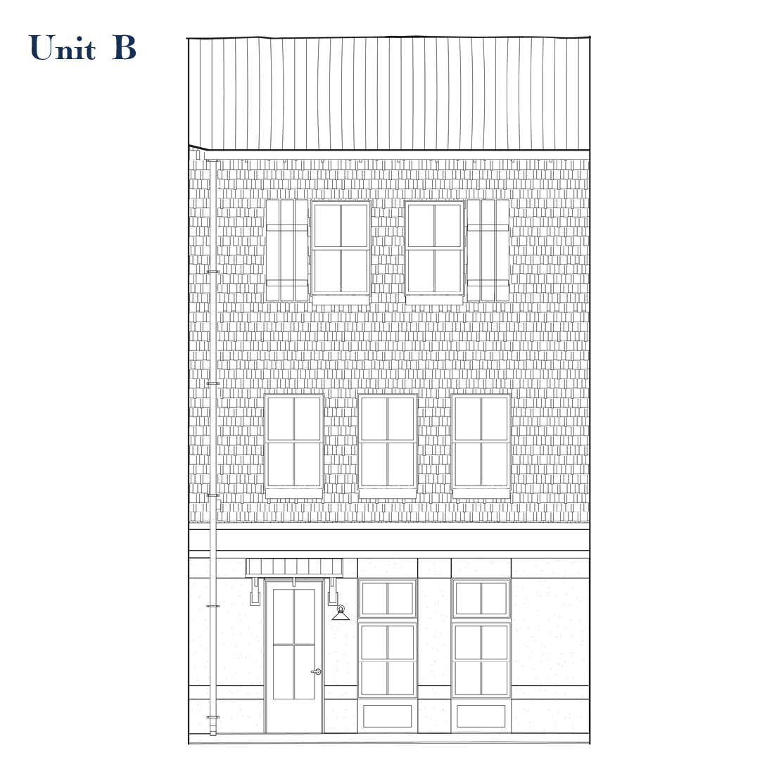 Unit B Front Elevation | East Wilbur LiveWorks, Downtown Lake Mary