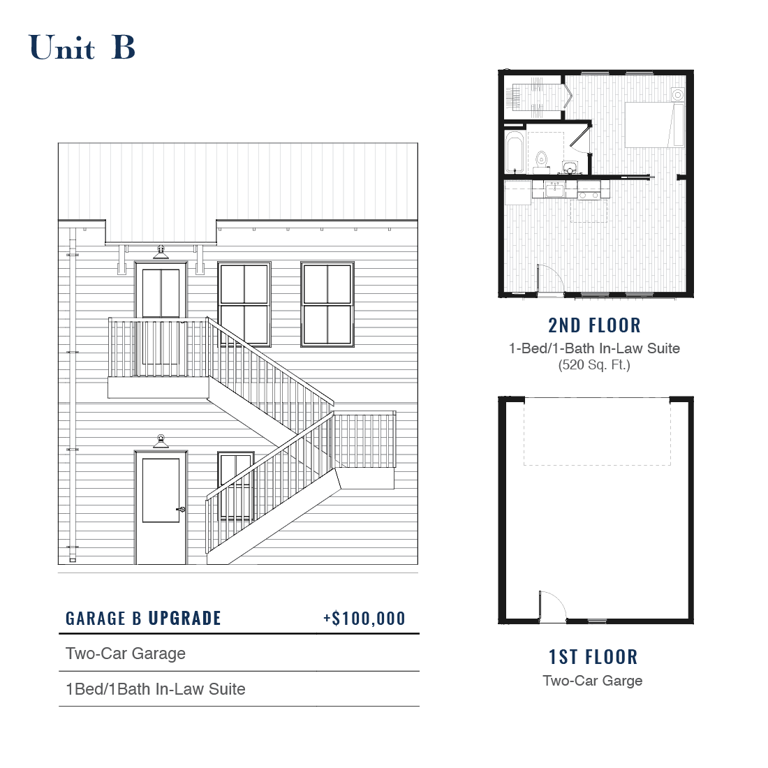 Unit B Premium Garage with ADU | East Wilbur LiveWorks, Downtown Lake Mary