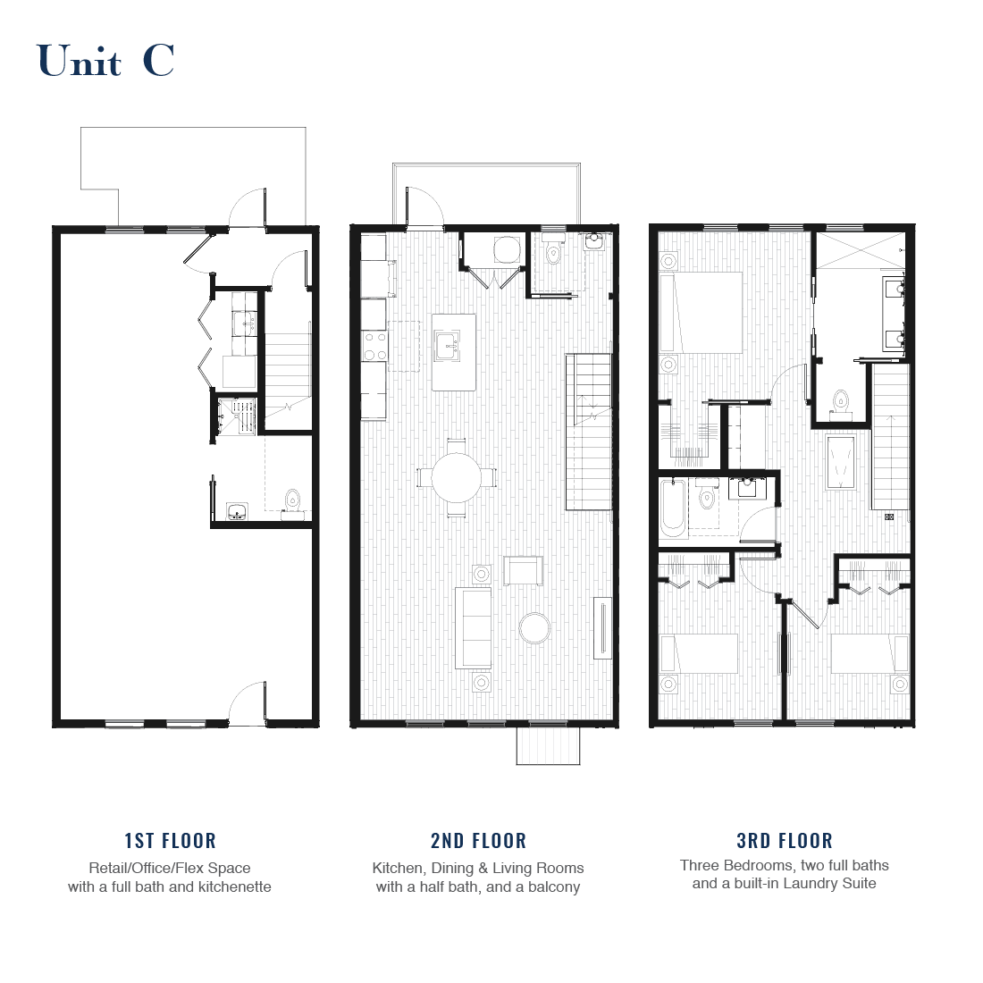 Unit C Floorplan   East Wilbur LiveWorks, Downtown Lake Mary
