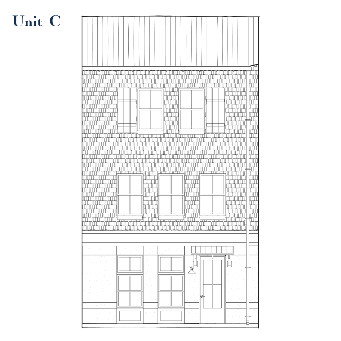 Unit C Front Elevation   East Wilbur LiveWorks, Downtown Lake Mary