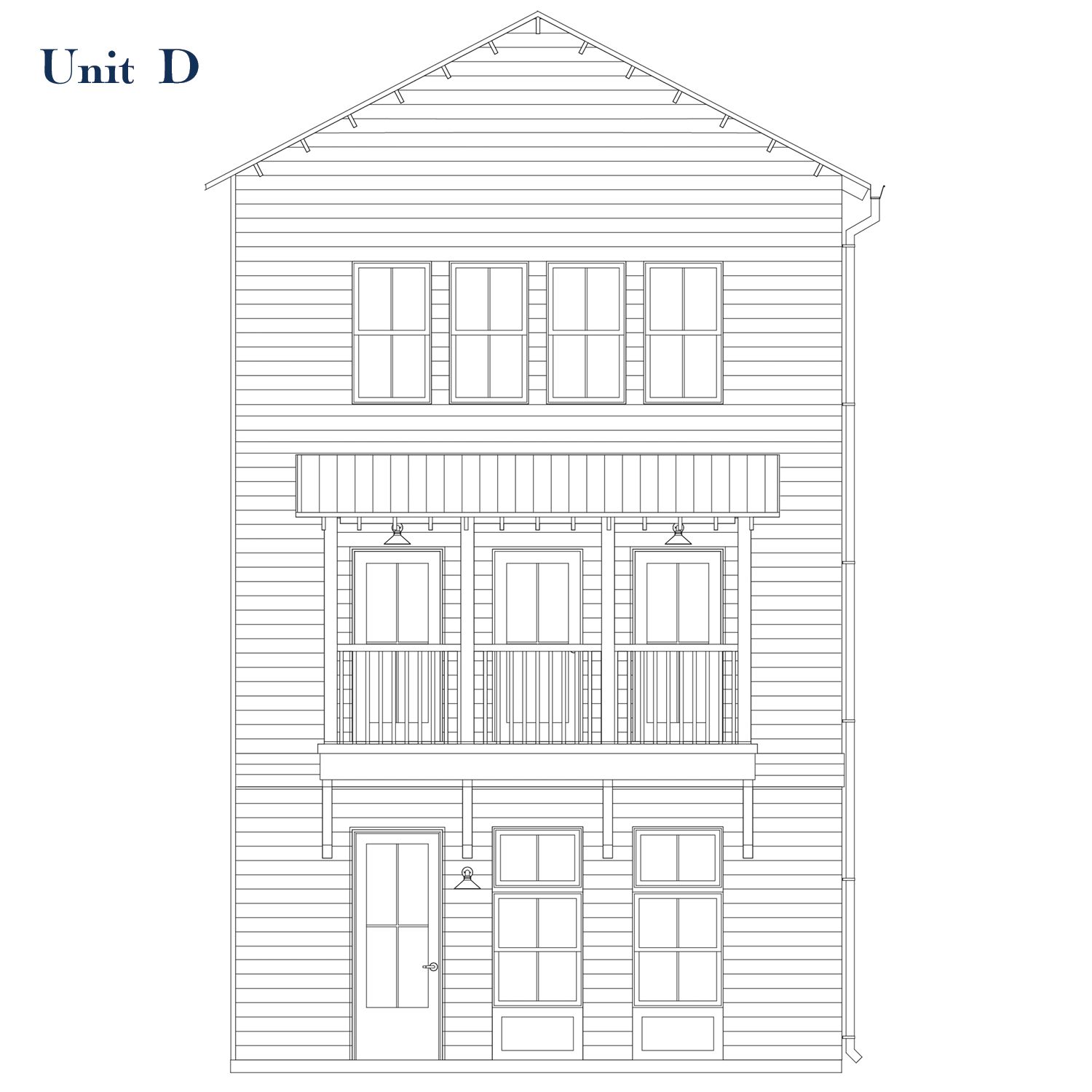 Unit D Front Elevation | East Wilbur LiveWorks, Downtown Lake Mary
