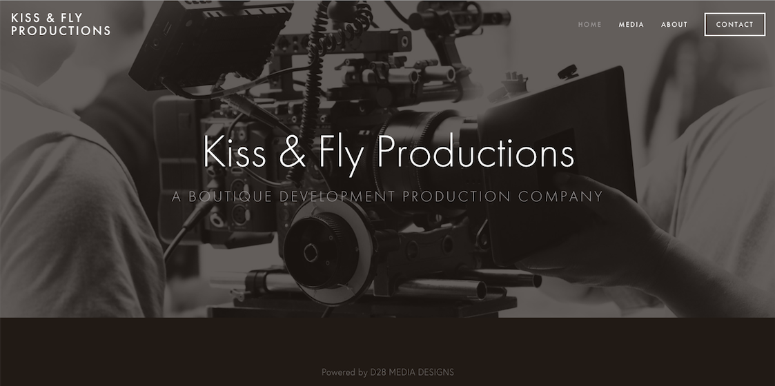 Highlighting Professional Services - This site was created for a production development company based out of Hollywood, California. Focusing on sleek design and stunning related images, this simple yet impactful site is information packed and easy to navigate, highlighting the company's achievements and prompting visitors to get in touch.