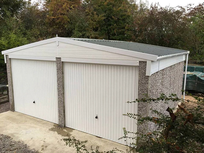 These garages can be made to any desired height.