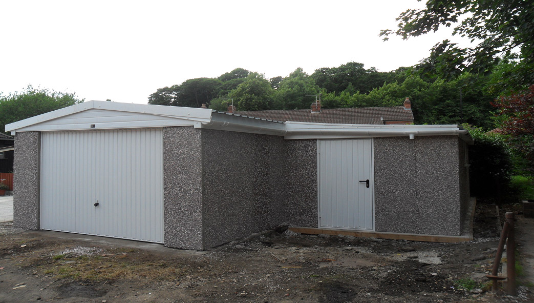 This building was created for a customer wanting an L shaped building that combined a Garage and a Shed into one.