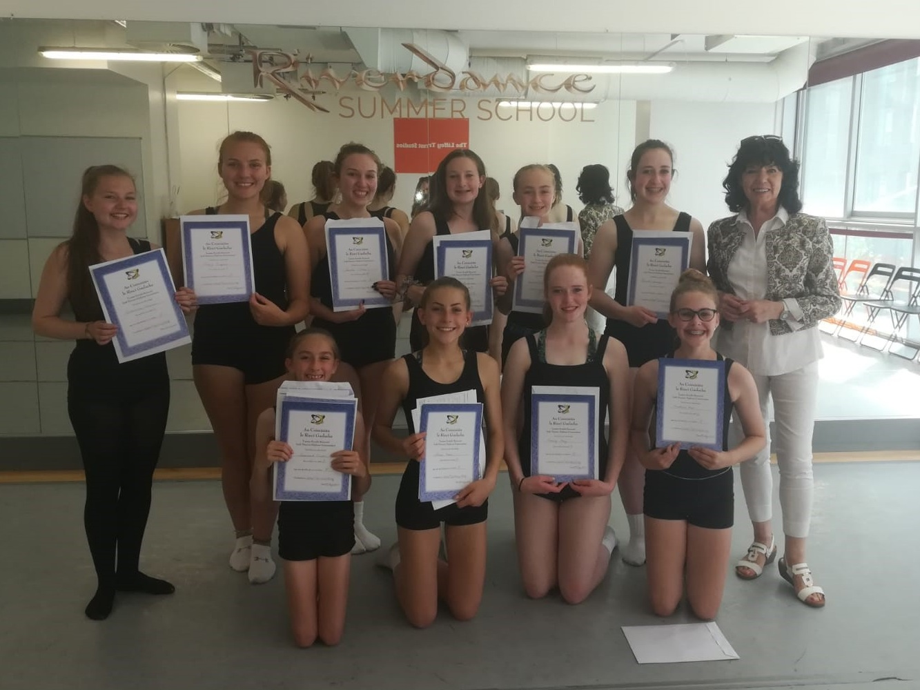 - A triumphant group of dancers over from Edmonton, Canada, who have just successfully attained 1st honors in their grade exams this week after their workshop with Olive.