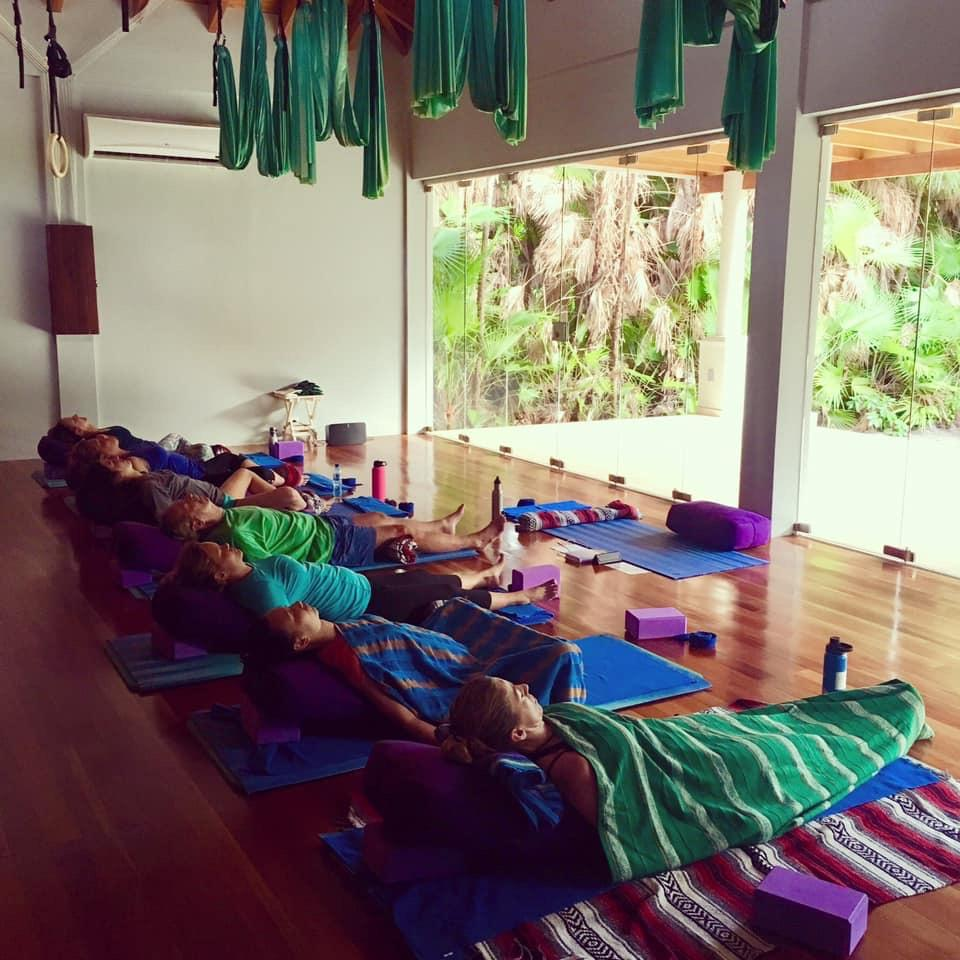 Active Yoga, Restorative Yoga, Meditation, it was exactly what each needed to find that inner peace