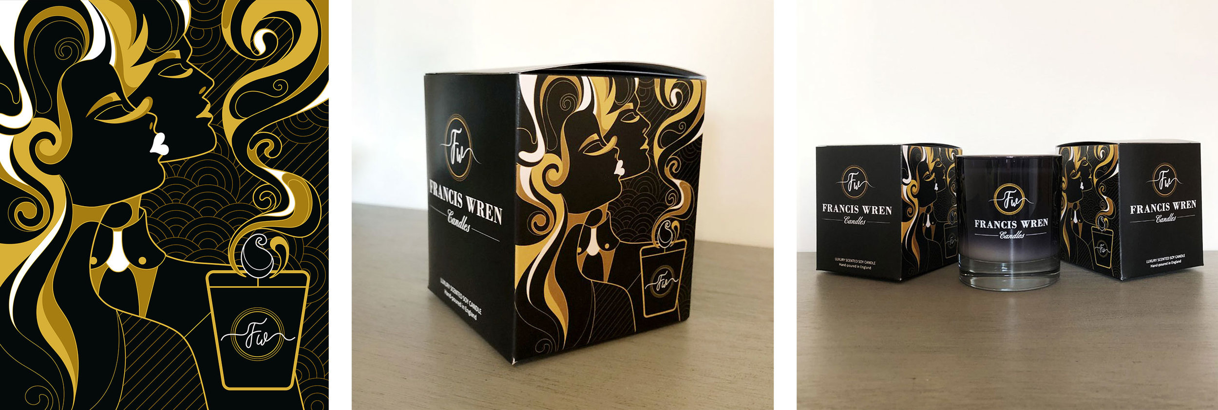 Commission for Francis Wren Candles - Packaging