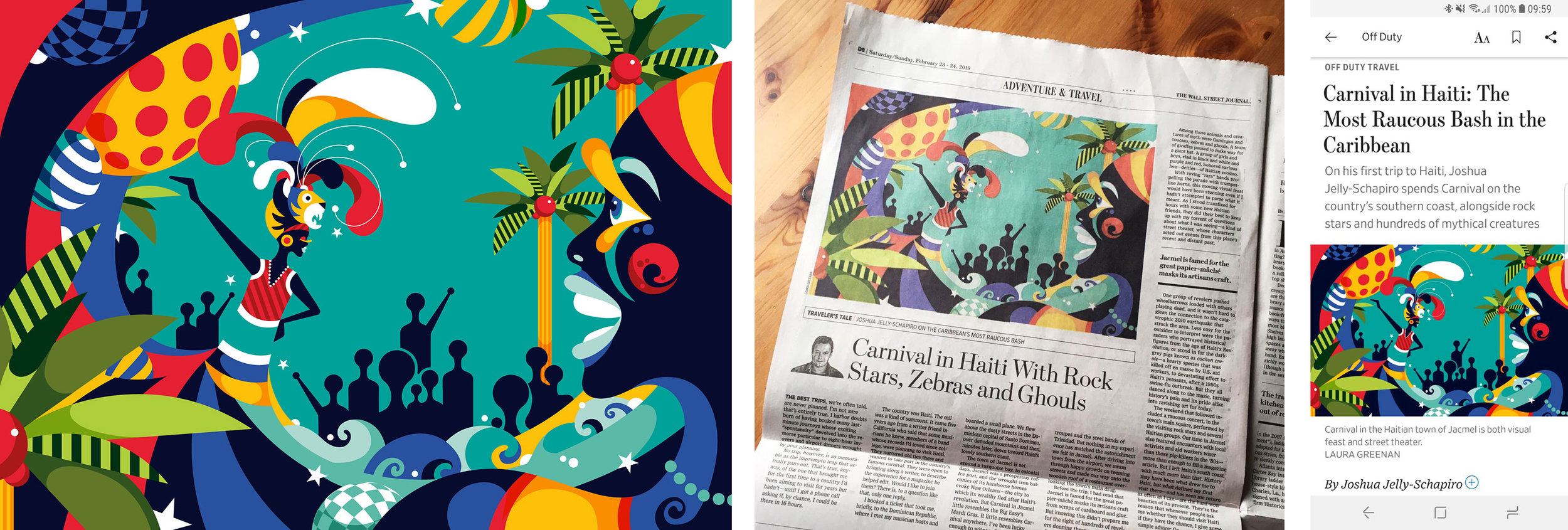 Commission for The Wall Street Journal - Haiti Carnival - Editorial