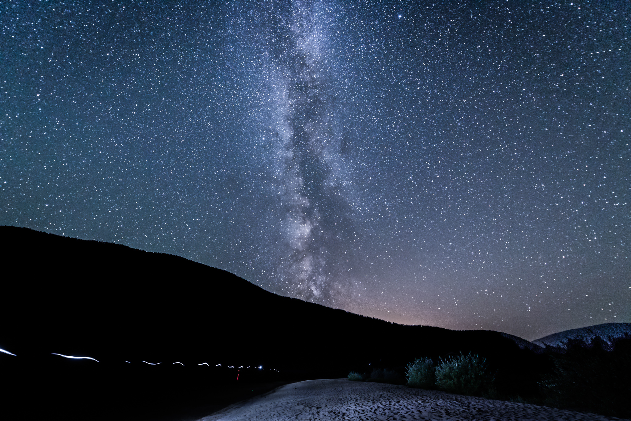 Night Sky over Kootenay Lake