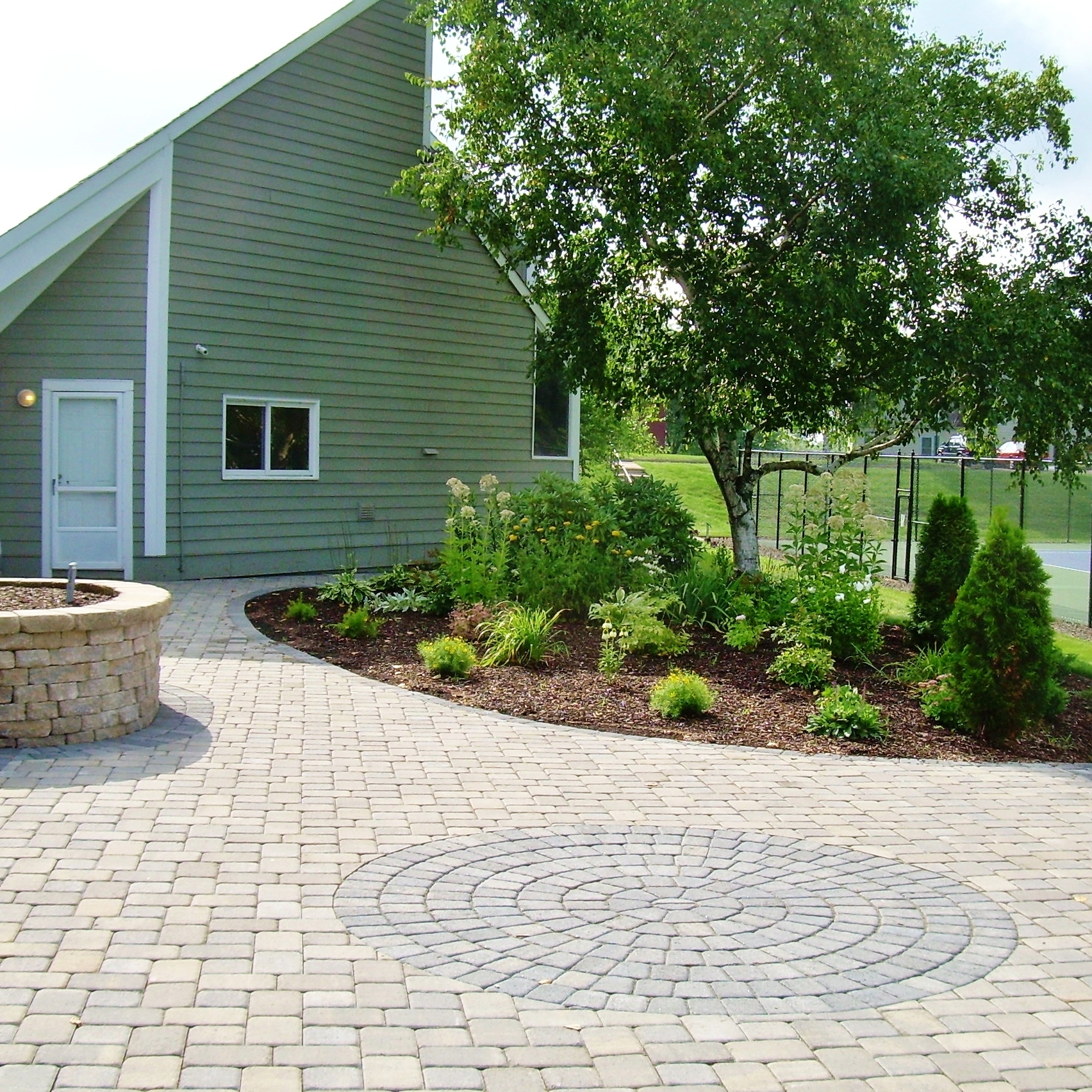 Paver Patio Construction and Bed Plantings