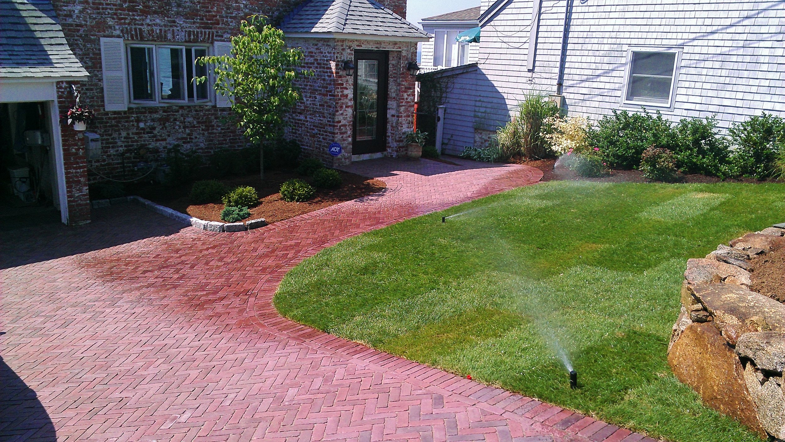 Brick Pavers and Sod Installation Completed