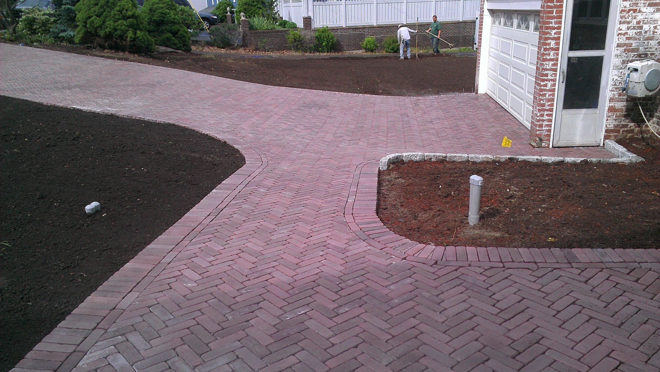Brick Paver Sidewalk Completed