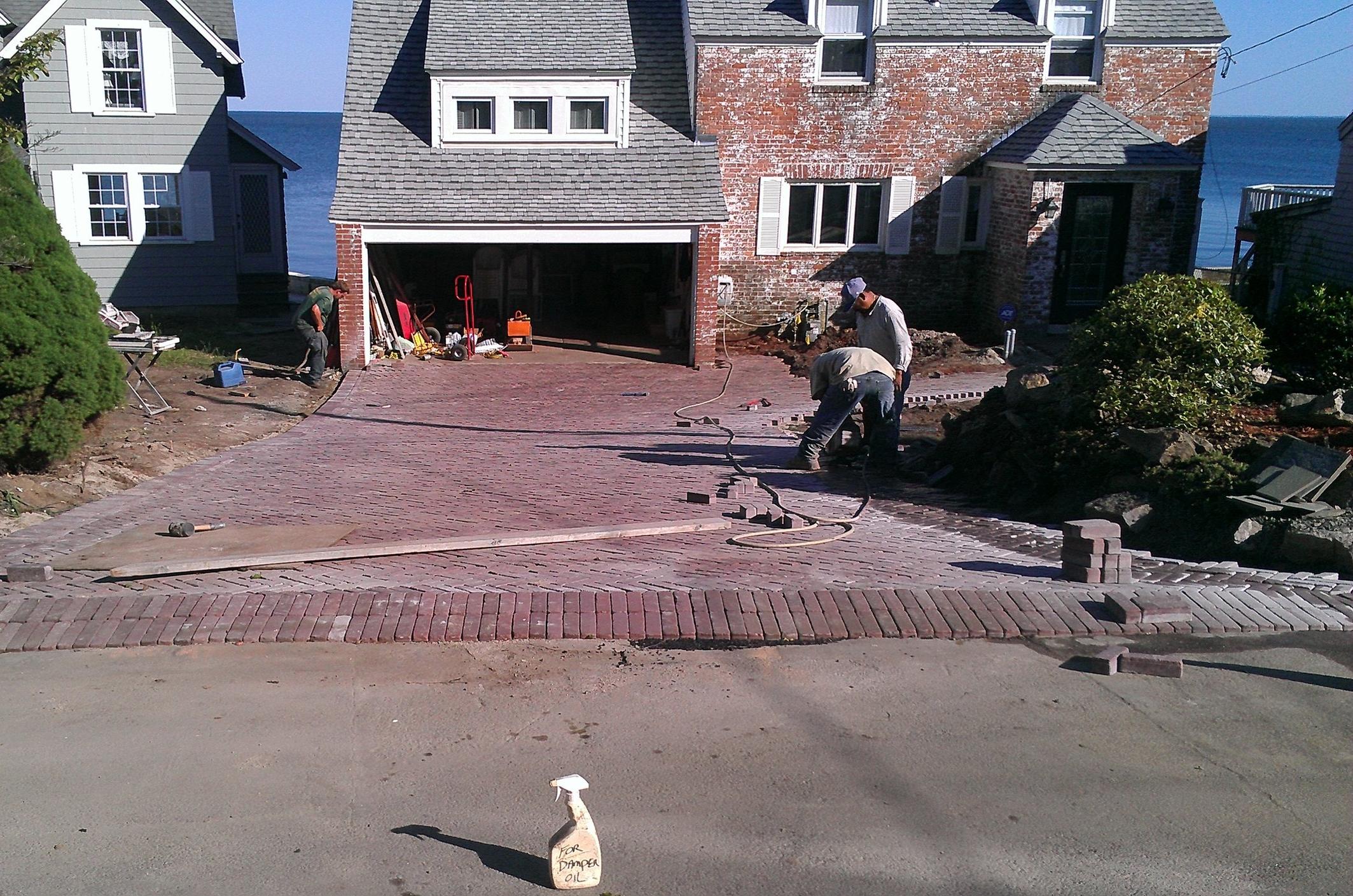 Brick Paver Driveway in Progress