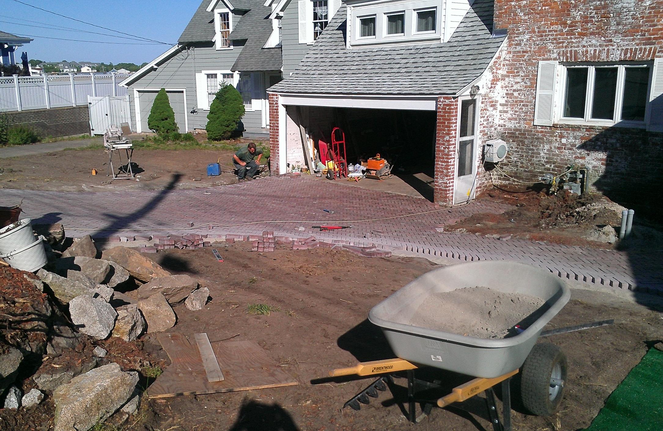 Brick Pavers in Progress