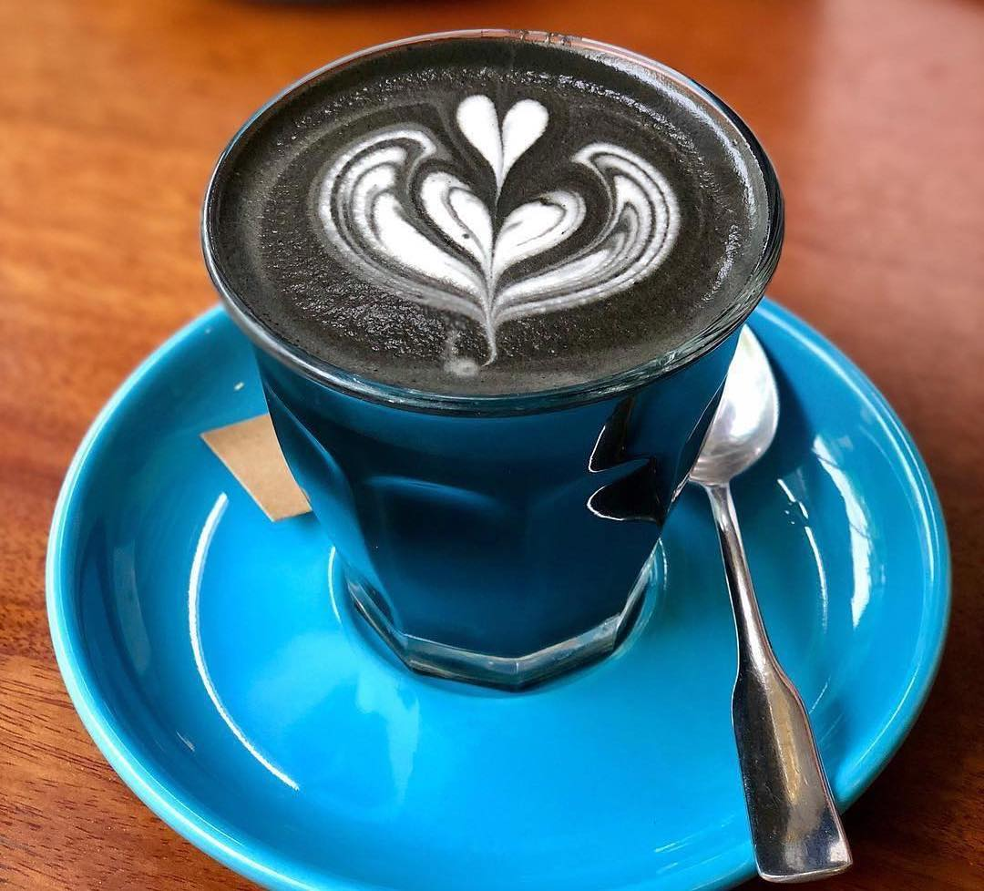 dark soul latte - Espresso blended with hot creamy milk and Activated Charcoal.