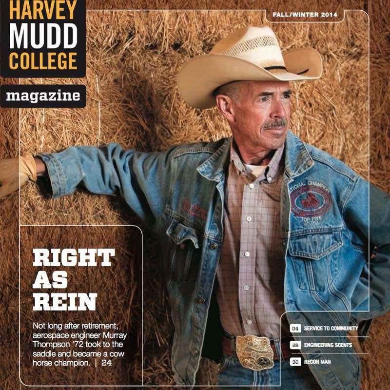 Herd Mentality :  Harvey Mudd College Magazine.  Unless you follow the sport or grew up on a ranch, you have probably never seen a horse do anything quite like this. Crouching with hooves...