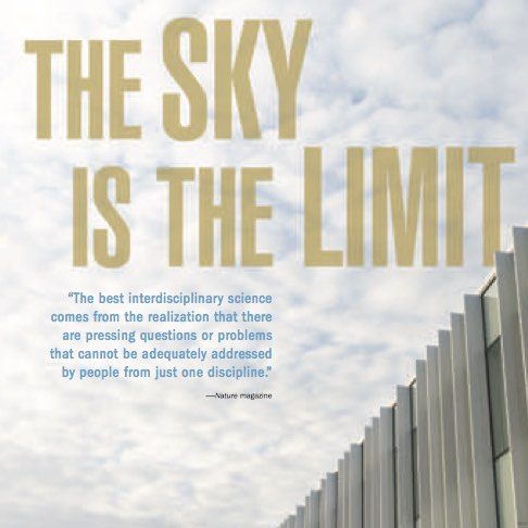 The Sky is the Limit ,  Resolve  (Lehigh University). Interdisciplinary research institute established in new hub of Lehigh innovation.