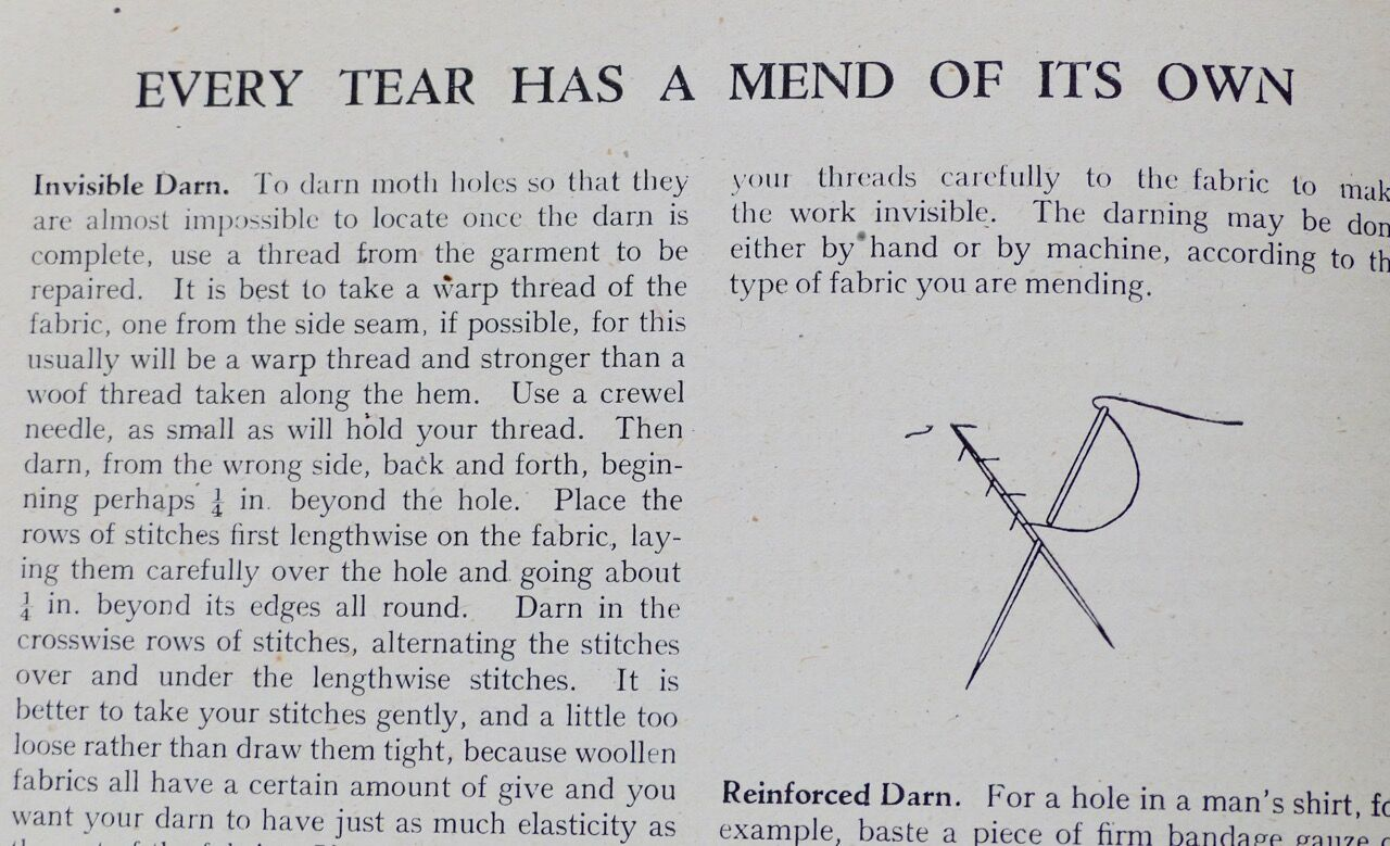 Every Tear has a Mend of its Own