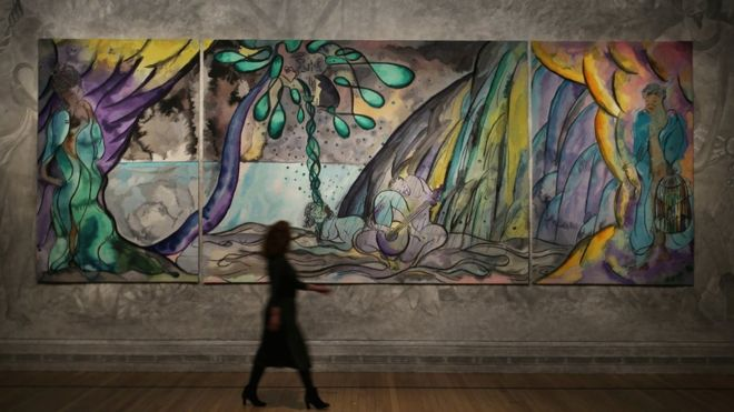 Chris Ofili 'The Caged Bird's Song'