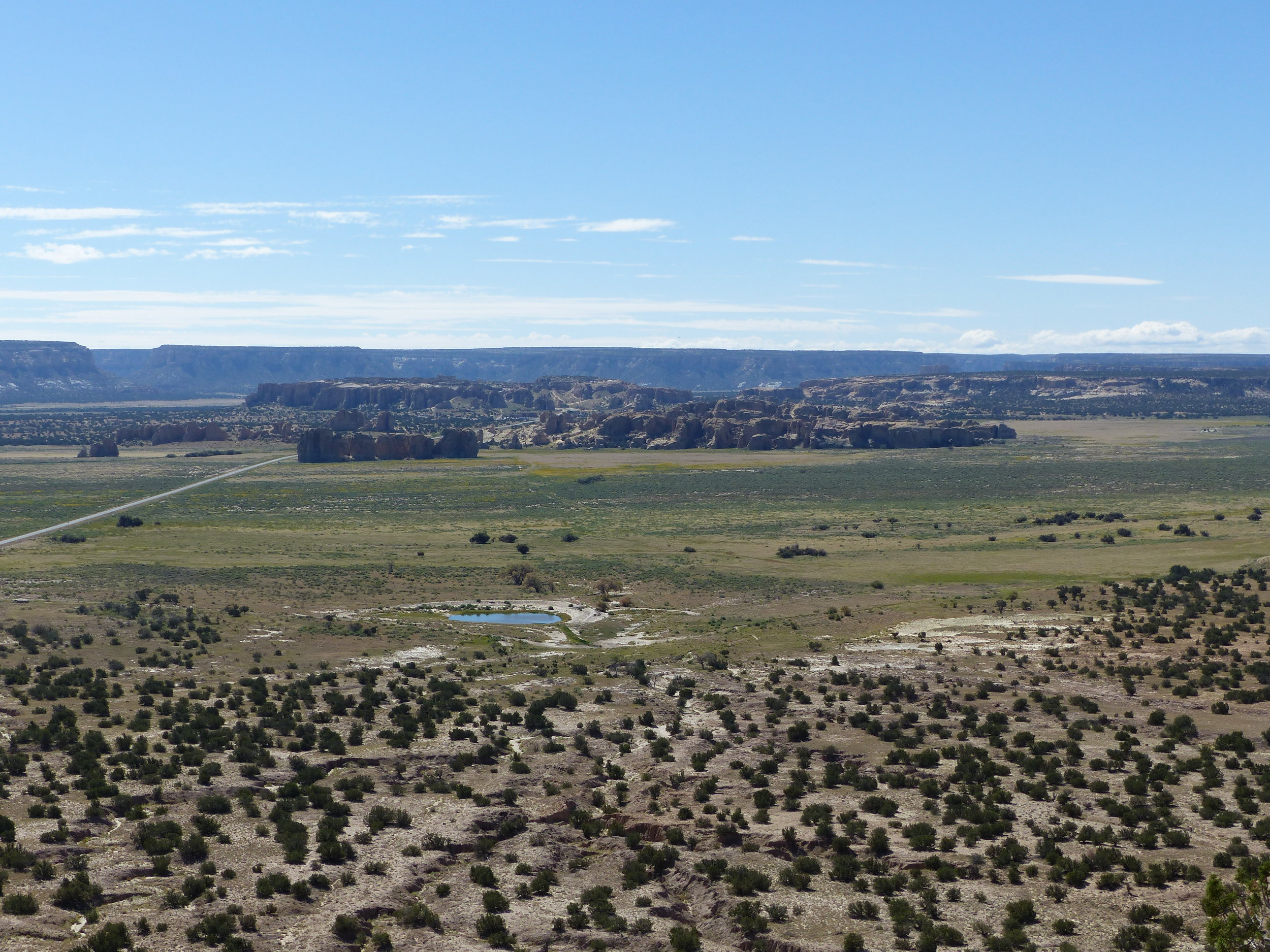 Looking out over Acoma, and the watering hole