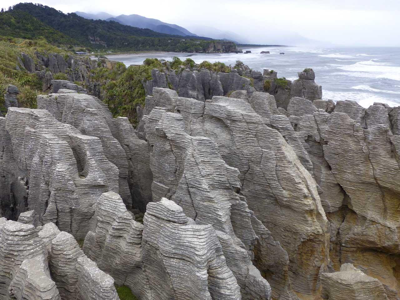 The 'pancake' rocks at Punakaiki, South Island, New Zealand