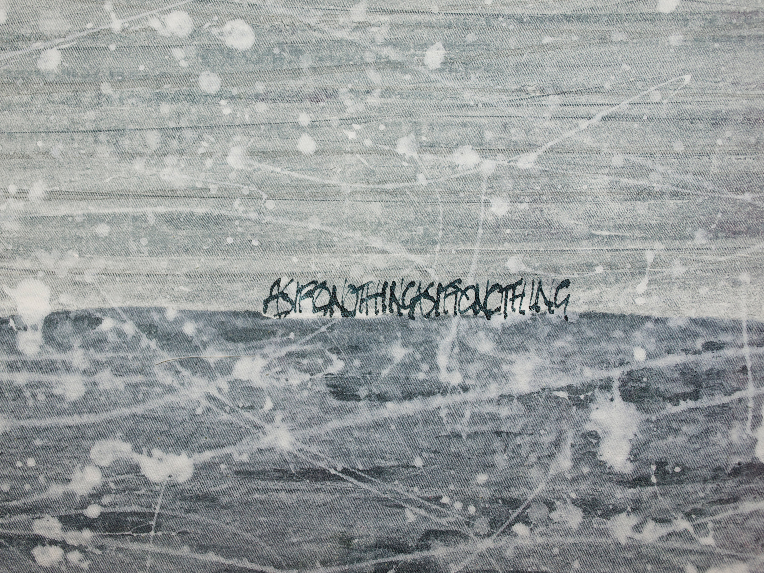 'Ocean', detail. Cotton, acrylic paint, India Ink