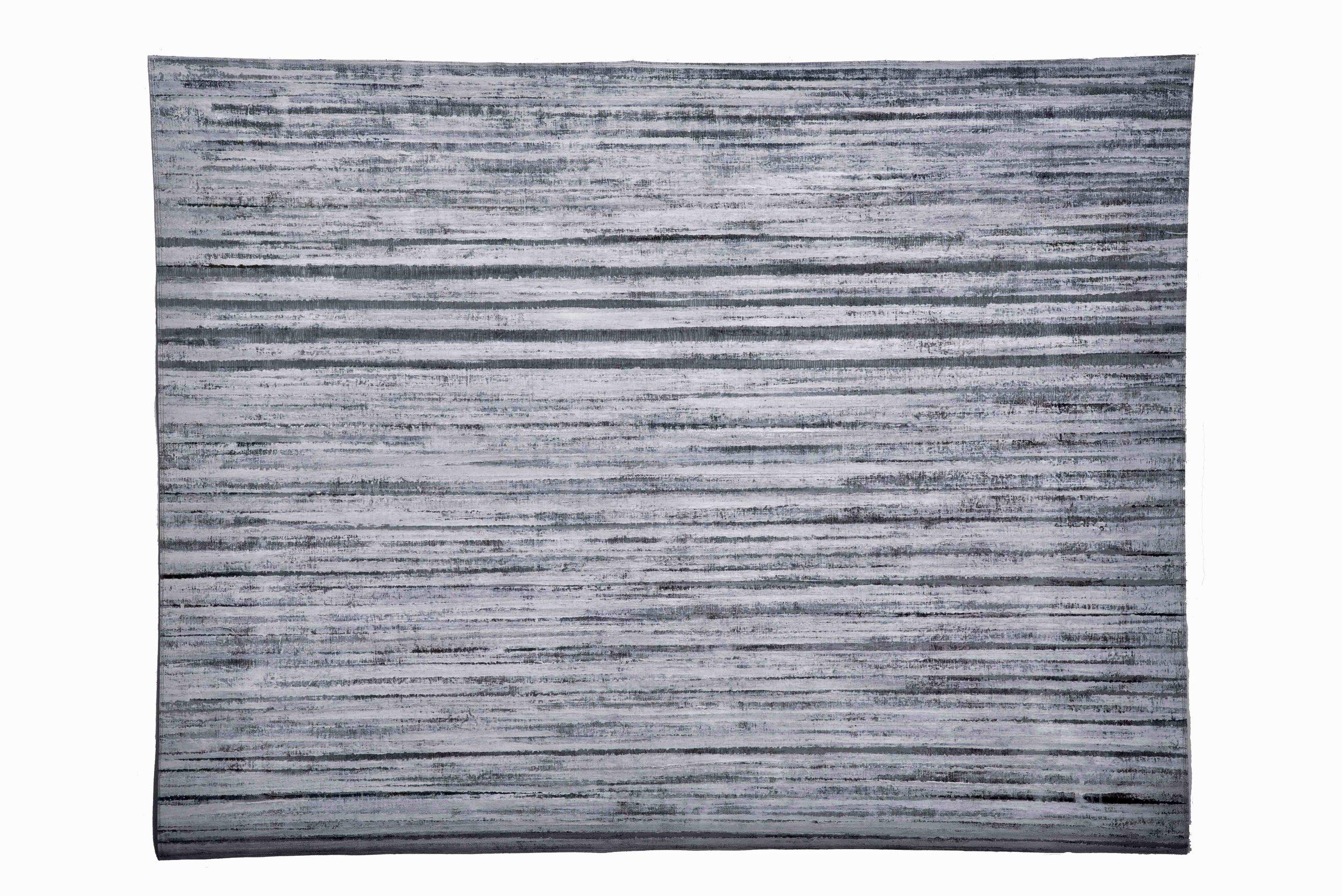 'Arctic', cotton, acrylic paint, machine and hand stitch. 175 x 120cm
