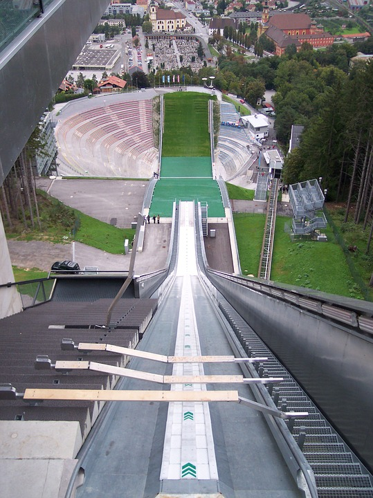 The view ski jumpers have before they take off to their doom.
